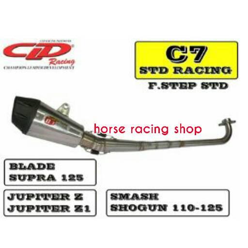 Knalpot Standar Racing C7 Blade Jupiter Z Shogun 125 CLD Racing