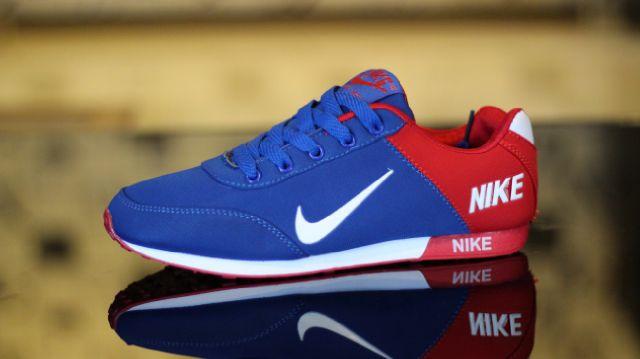 Sepatu Nike Trainer Woman Biru Merah