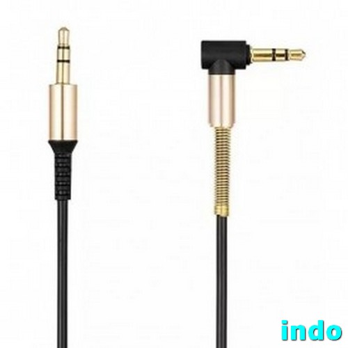 Hoco UPA02 Spring AUX Cable 3.5mm 1 Meter - Black