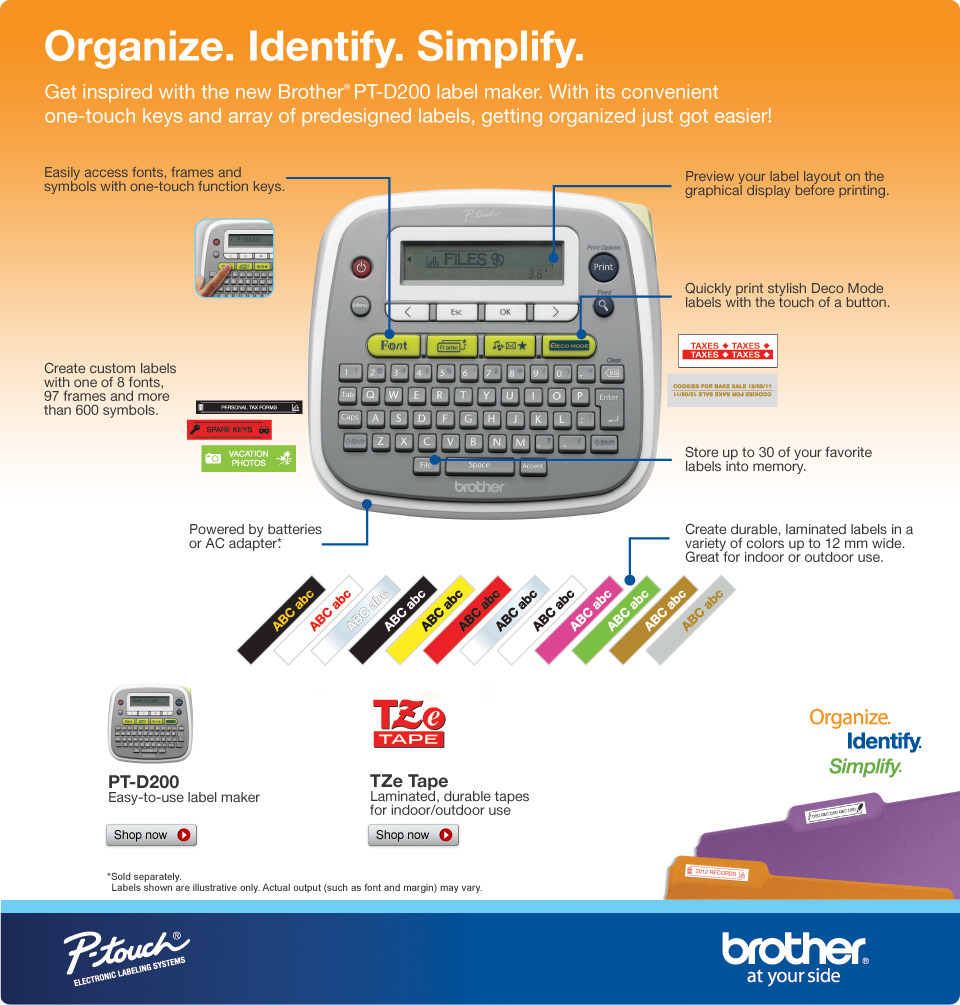 Jual Promo Printer Label Brother P Touch Pt D200 Csayooklik