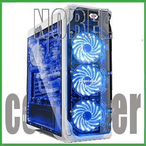 SEGOTEP LUX WHITE - Full Side Window + Front 3x 12CM LED FAN + USB 3.0