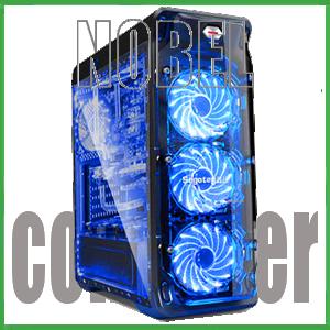 SEGOTEP LUX BLACK - Full Side Window + Front 3x 12CM LED FAN + USB 3.0