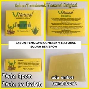 V Natural Whitening Soap Temulawak / Sabun Temulawak Original BPOM2