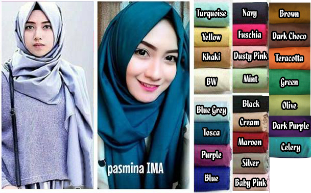 Pashmina IMA / IMA Scarf Tosca On Model