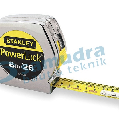 Meteran STANLEY 8 Meter Power Lock Tape Rule 33-428-2