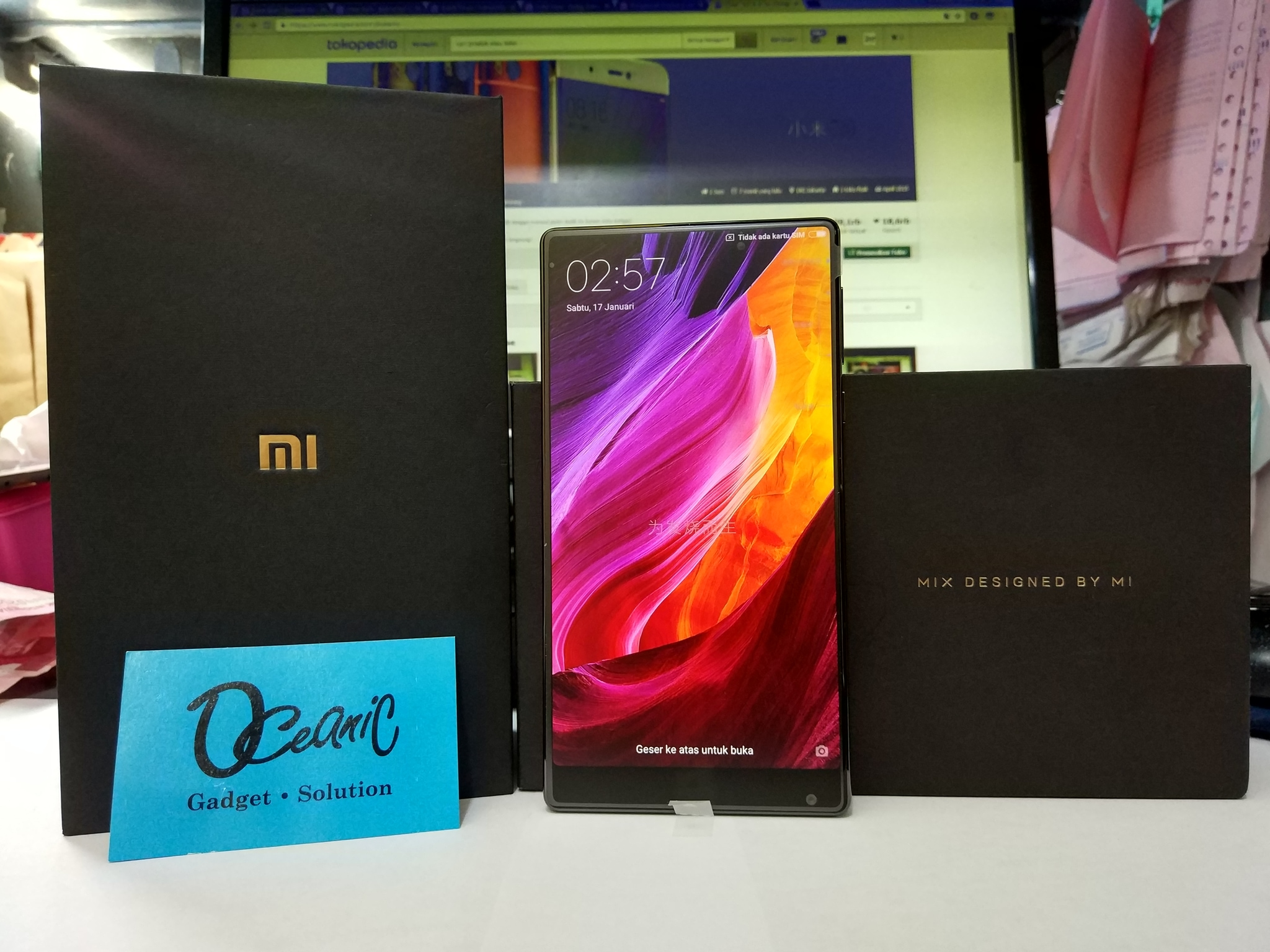 [NEW] Xiaomi Mi Mix RAM 6GB Internal 256GB Garansi Distributor 1 Thn!