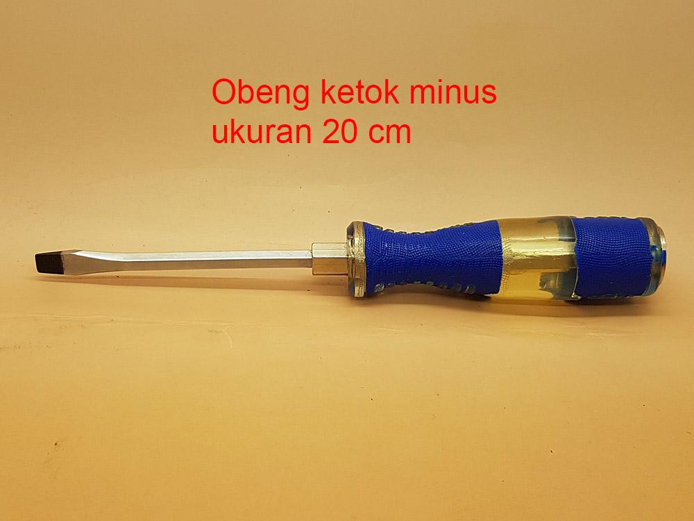 Obeng Ketok 8' (20 Cm) Mata MINUS (-)