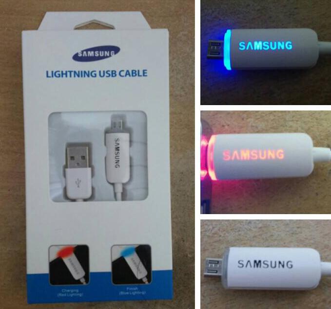 Lightning Cable USB (Samsung) / Smart Kabel USB LED 1 Meter Micro US