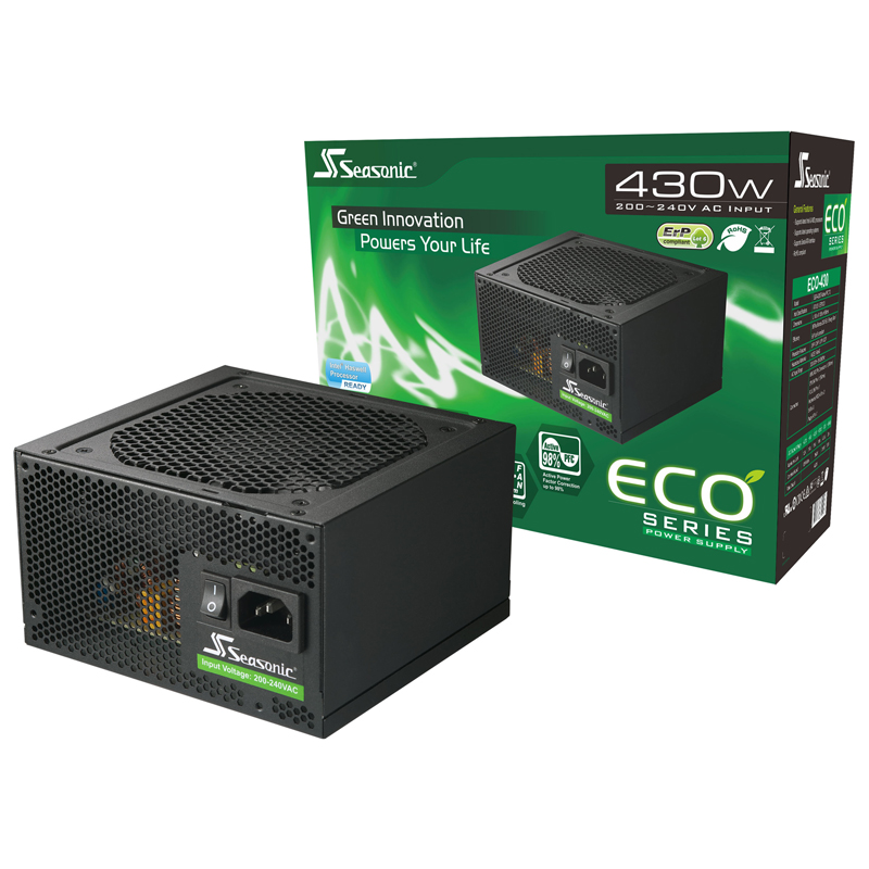 Seasonic ECO Series 430W - ECO-430 - 80 + Bronze Certified
