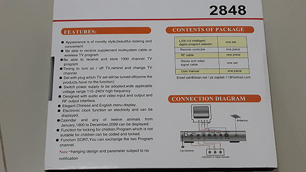 TV Tuner Untuk Projector / TV Mobil / DVD Portable