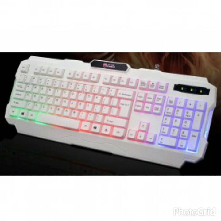 Kinbas USB Wired Gaming Keyboard With LED Backlight - VP-X9 - White