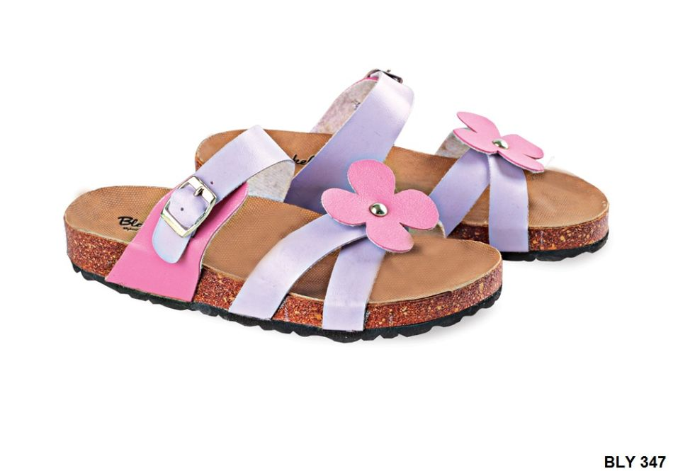 Sandal Anak Perempuan Pu-Pvc Sol Pvc-Spon Coklat Ungu BLY 347