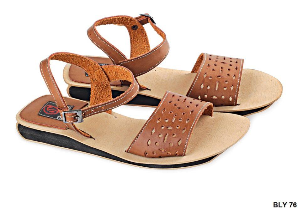 Sandals Untuk Wanita Pu-Pvc Sol Karet Coklat BLY 76
