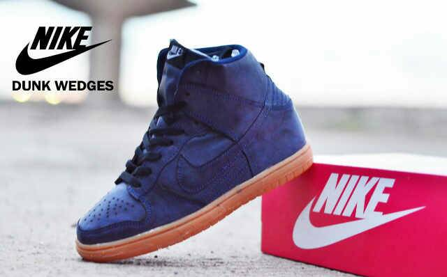 Nike Dunk Wedges Women Navy Suede
