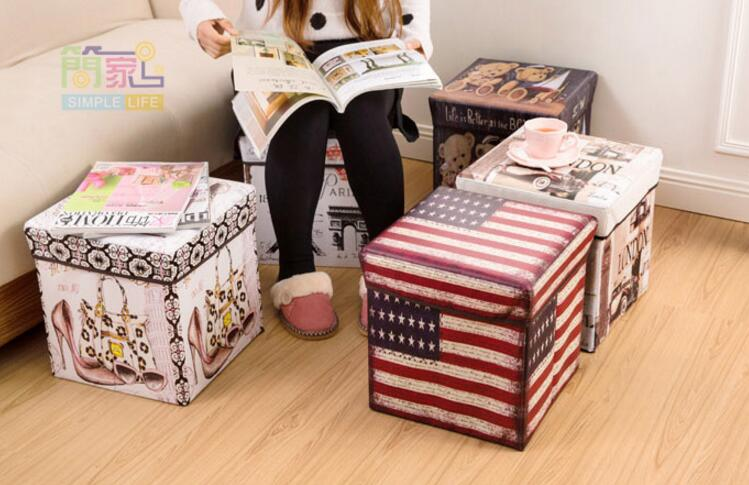 Storage Box / Storage Stool / Tempat Mainan / Majalah / Kursi Organiz