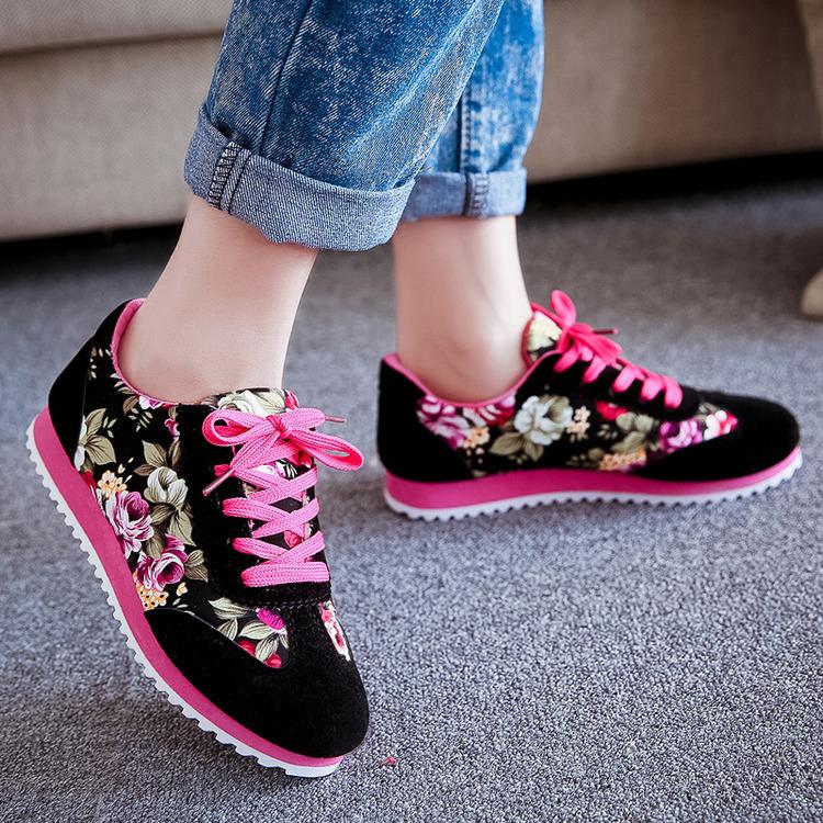 Jual Sepatu Kets Wanita Cewek Casual Motif Bunga Sds101 Favos ea97a74f8a