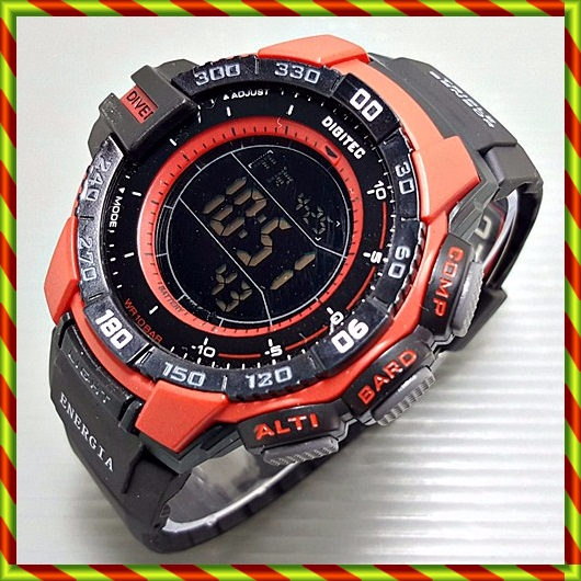 Digitec Original Digital 2070T Black RED | Anti Air G-shock Protrek