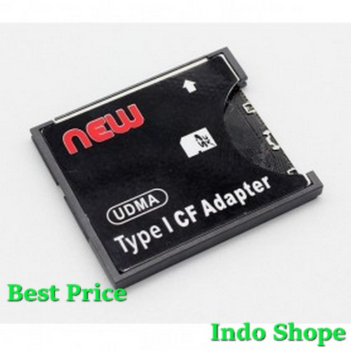 SDHC To Compact Flash CF Type I Card Reader Adapter - Black