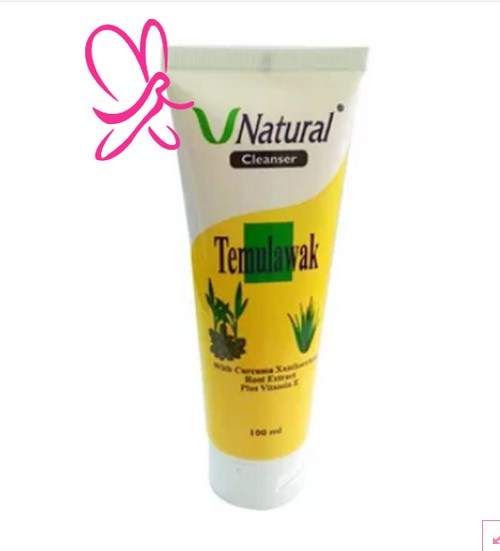Temulawak Serum Gel Cleanser Face V-Natural Terlaris