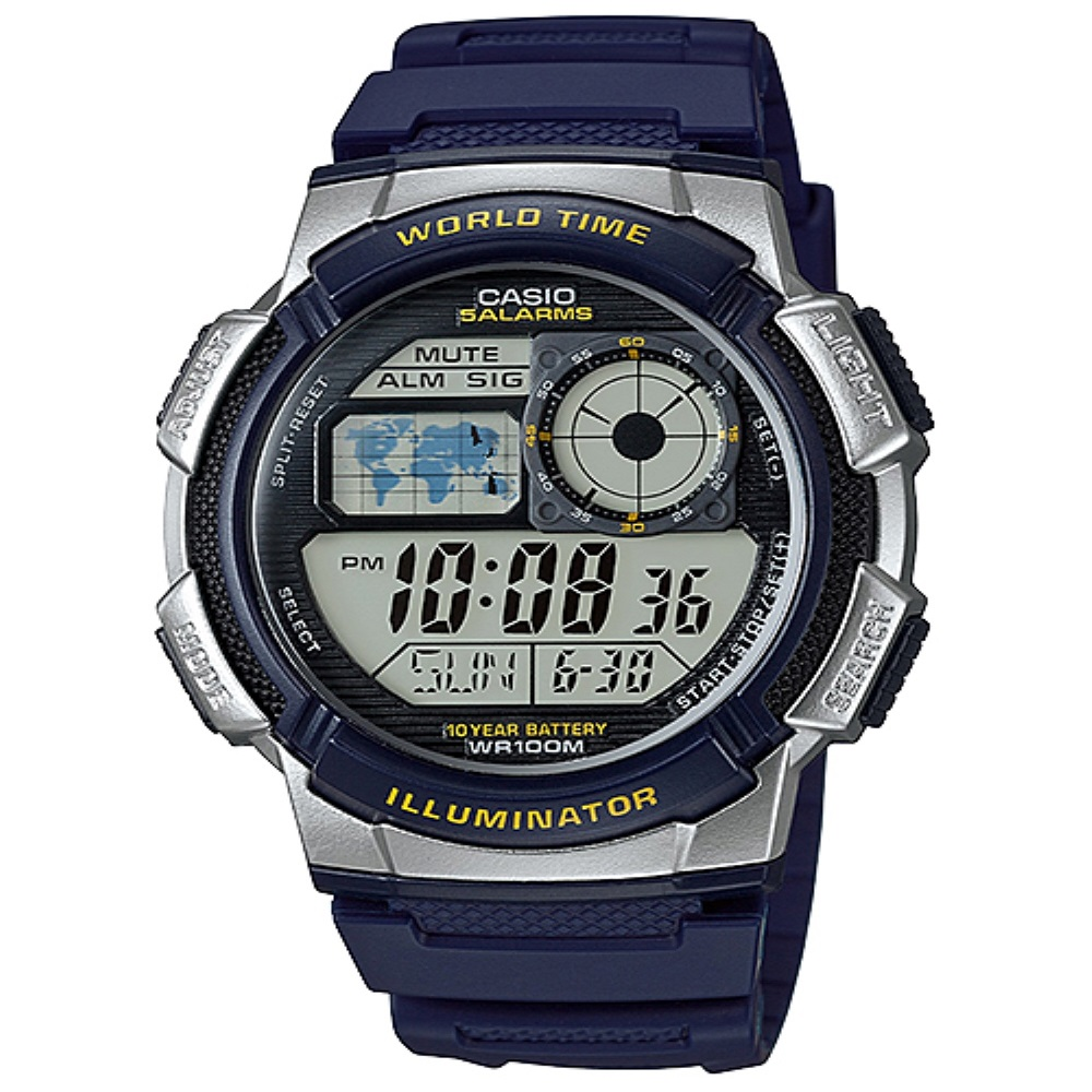 Casio Digital Jam Tangan Pria Biru AE-1000W-2A Original TERLARIS