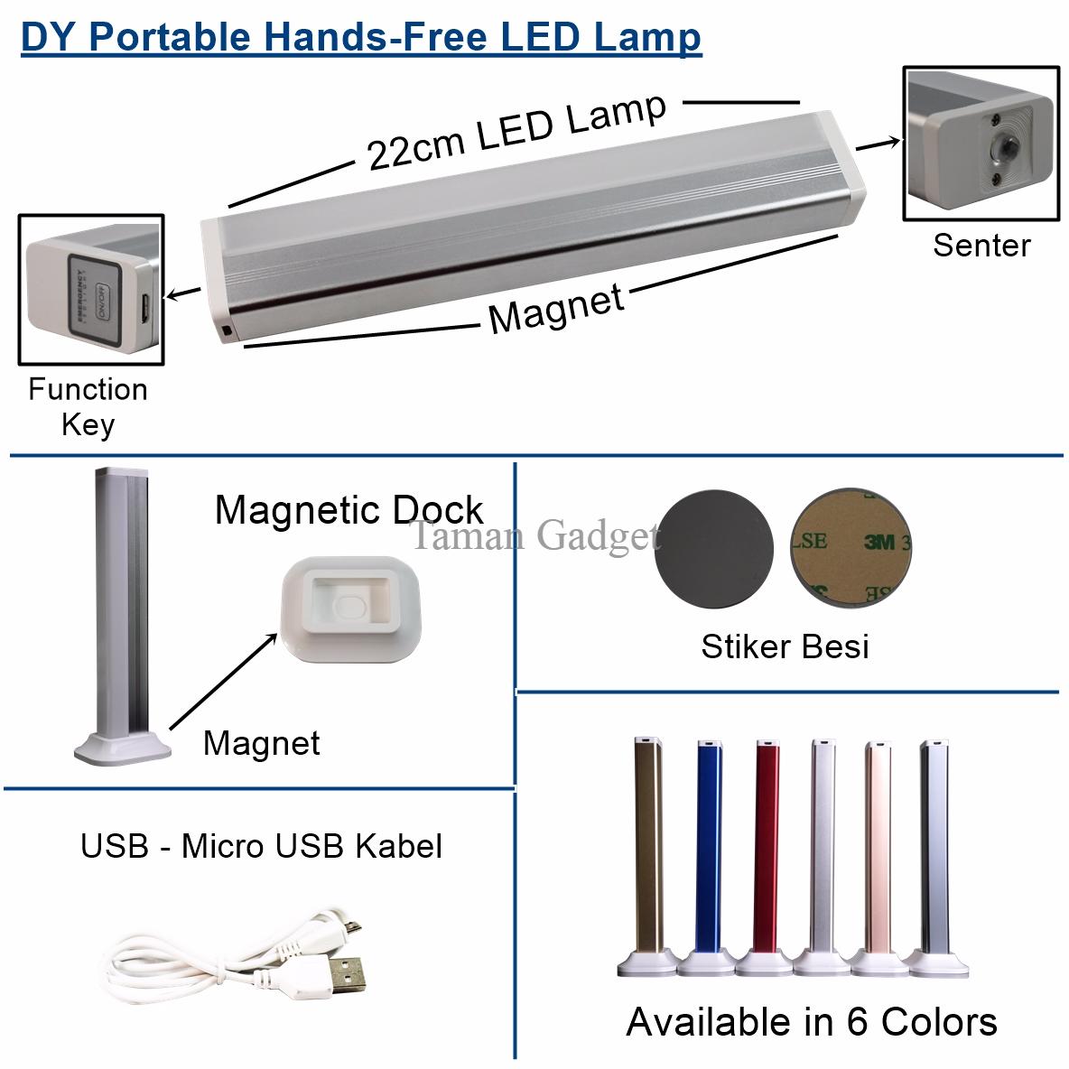 Terlaris Portable Lampu Handfree SOS Mobil Rumah Led Emergency (DY-YJ0