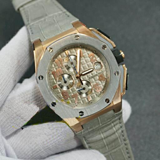 Jam Tangan Pria Audemars Piguet Lebron Silver Leather Grey Premium