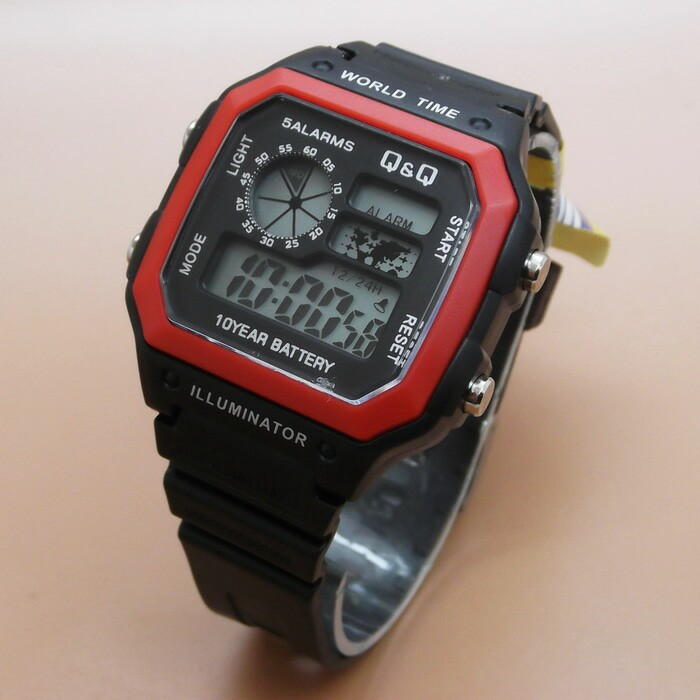 Q&Q DIGITAL Q06 BLACK RED
