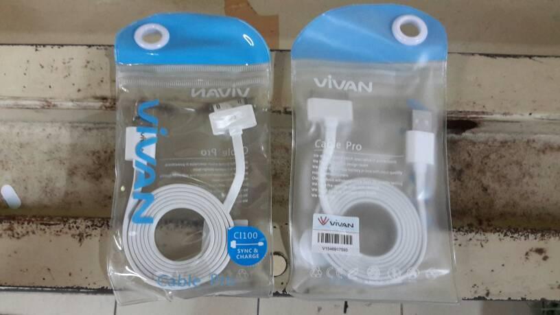 Kabel Charger VIVAN ORI IPhone 3,4 & IPad 1,2 & 3