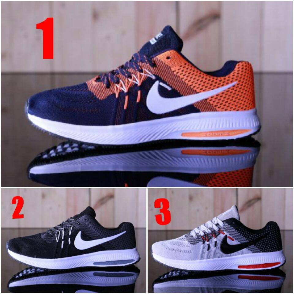 Sepatu Nike Zoom, Sepatu Running, Sepatu Olahraga, Sepatu Gaya Pria
