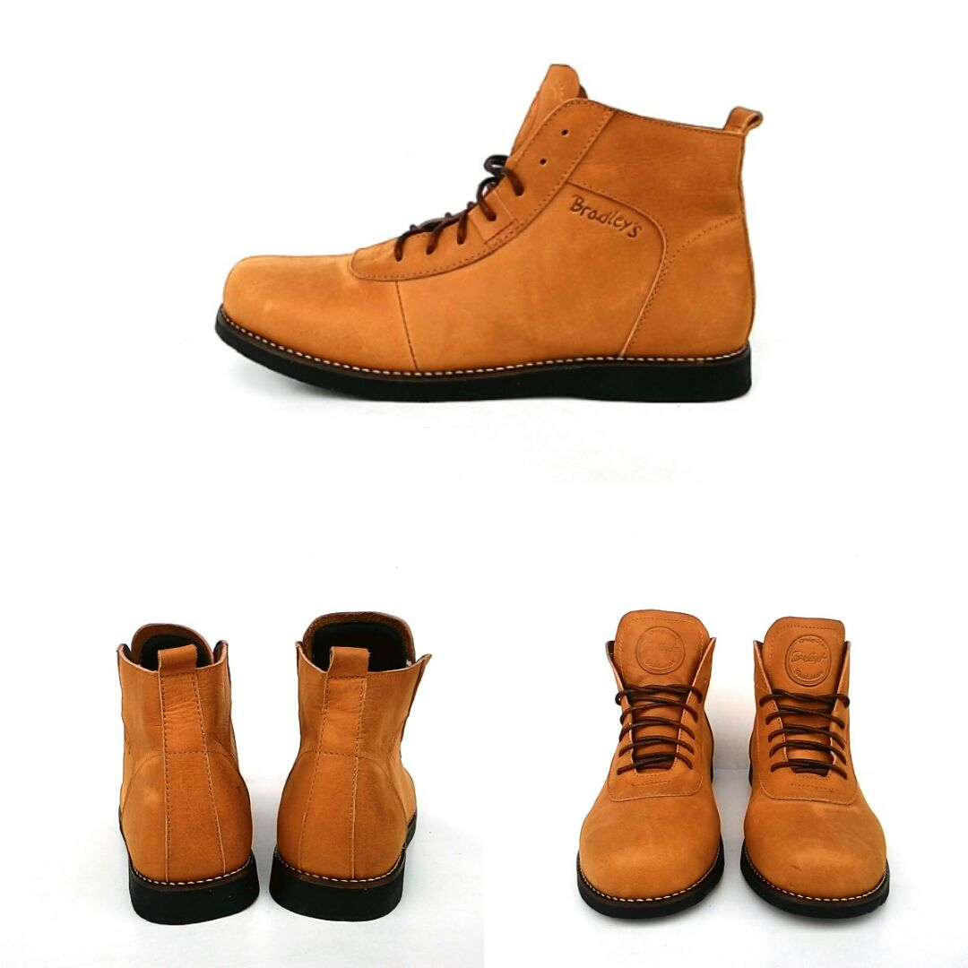 Sepatu Casual Bradleys Anubis   Sepatu Brodo Kulit Asli  TAN  - Boots ... 3a7b3a77b6