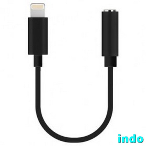 Lightning To 3.5mm Headphone Adapter For IPhone 7 - Black
