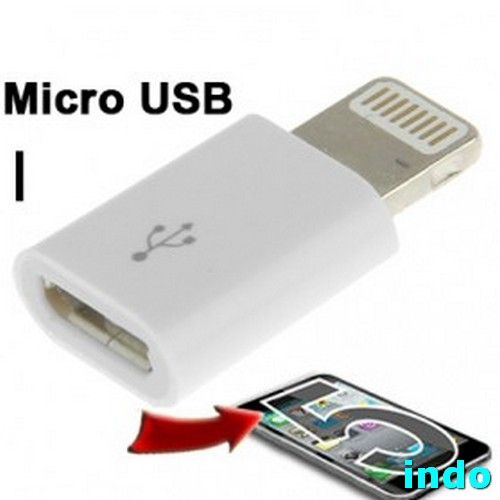 Micro USB Female To Lightning 8 Pin Adapter For IPhone 5/5s / SE, IPad A