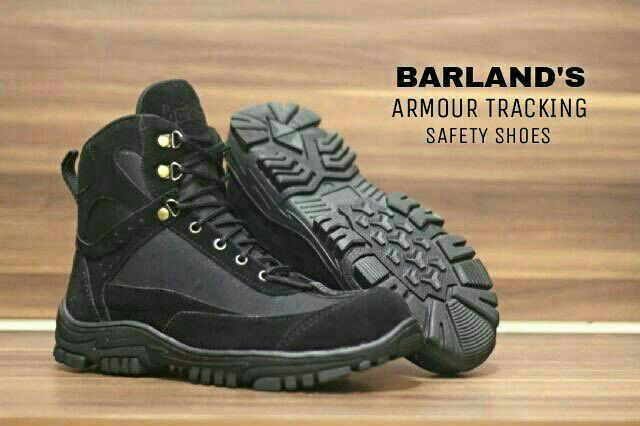 sepatu boot barland's armour tracking safety black