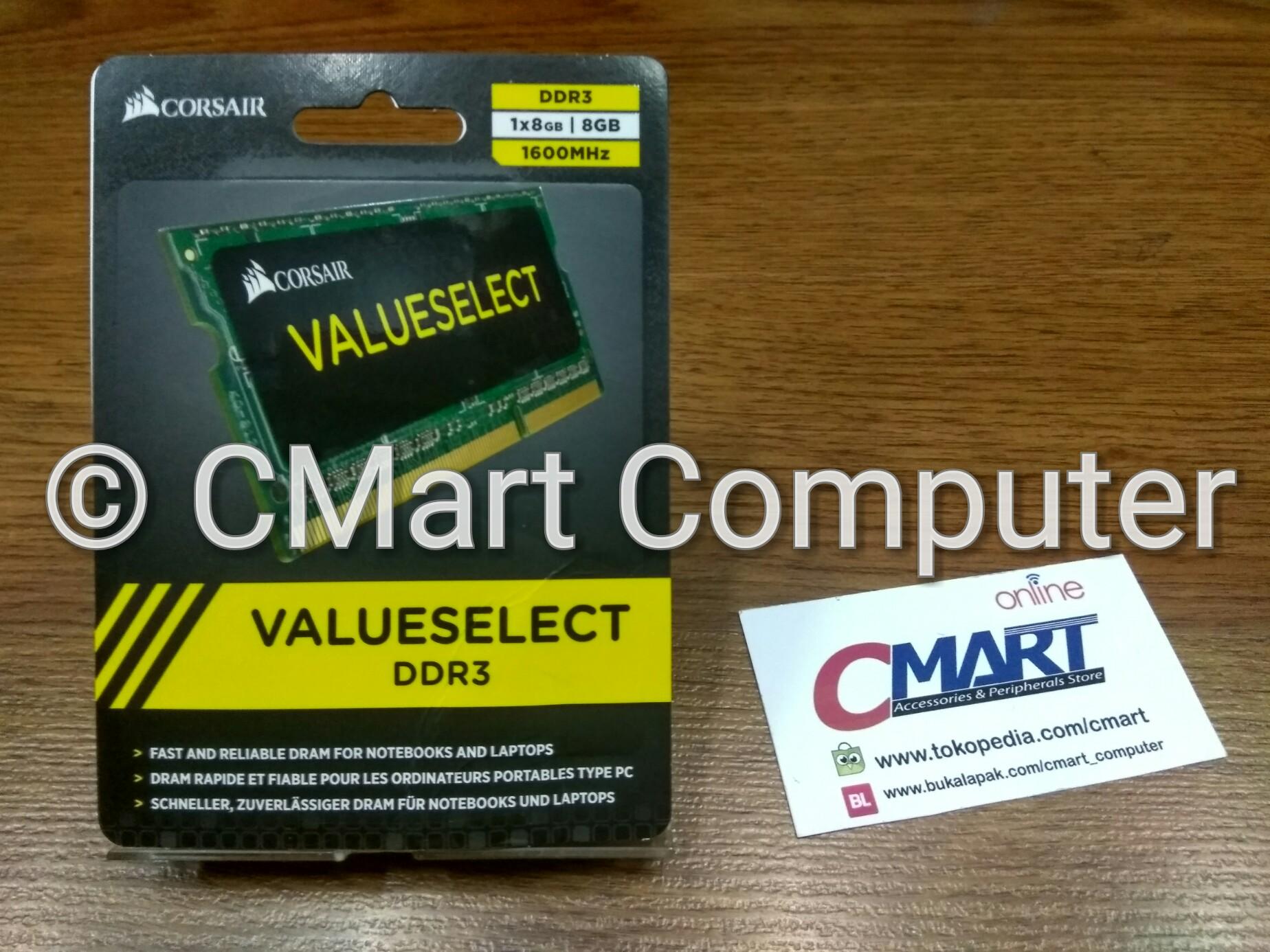 Jual Corsair 8gb Ddr3 1600 Mhz Sodimm Memory Ram Laptop Cmso Limited Ddr3l Berkah Toko Tokopedia