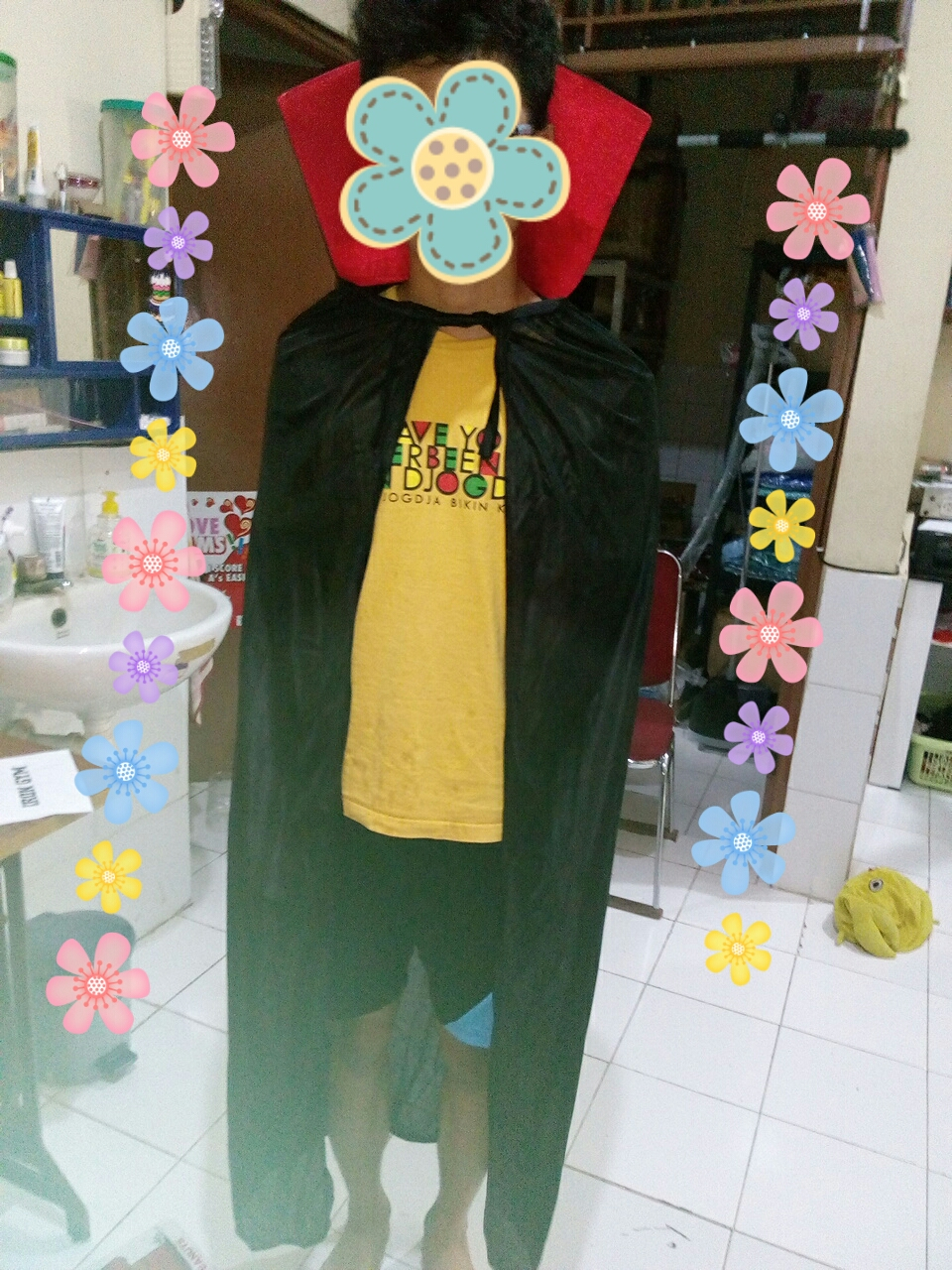 jubah halloween drakula, haloween costum