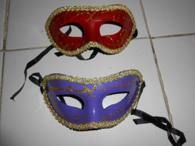 topeng carnival tepi emas halloween mask