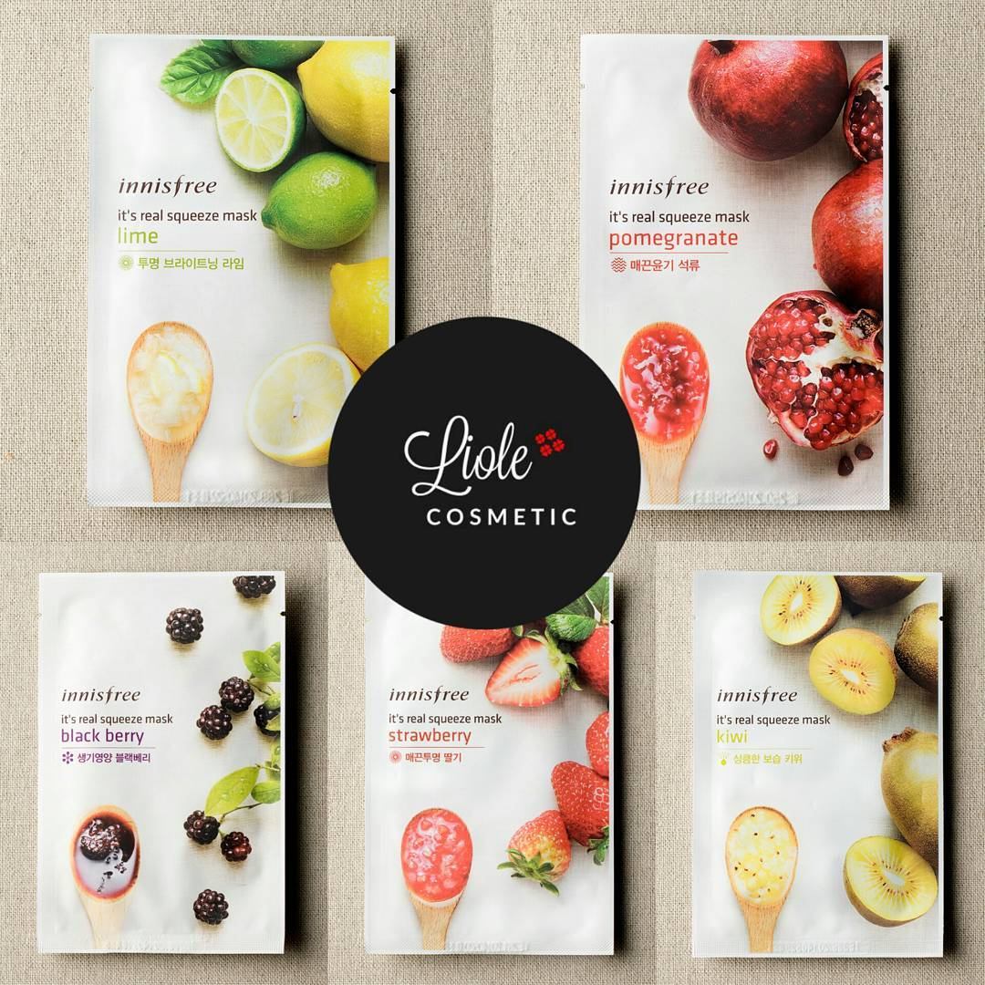 Jual Inf Innisfree Its Real Squeeze Mask Liolecosmetic Lime Tokopedia