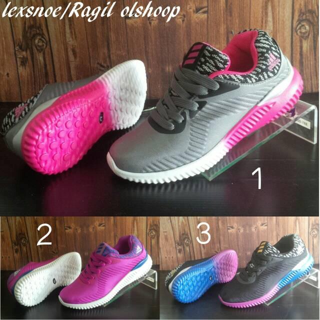 sepatu wanita adidas alpha bounce running import terbaru