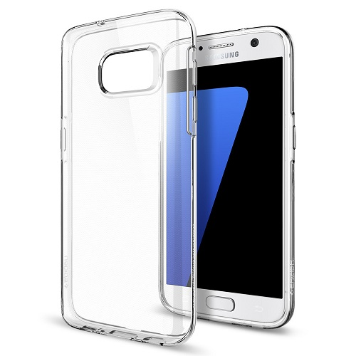 Spigen Samsung Galaxy S7 Case Liquid Crystal Casing - Clear Transparan