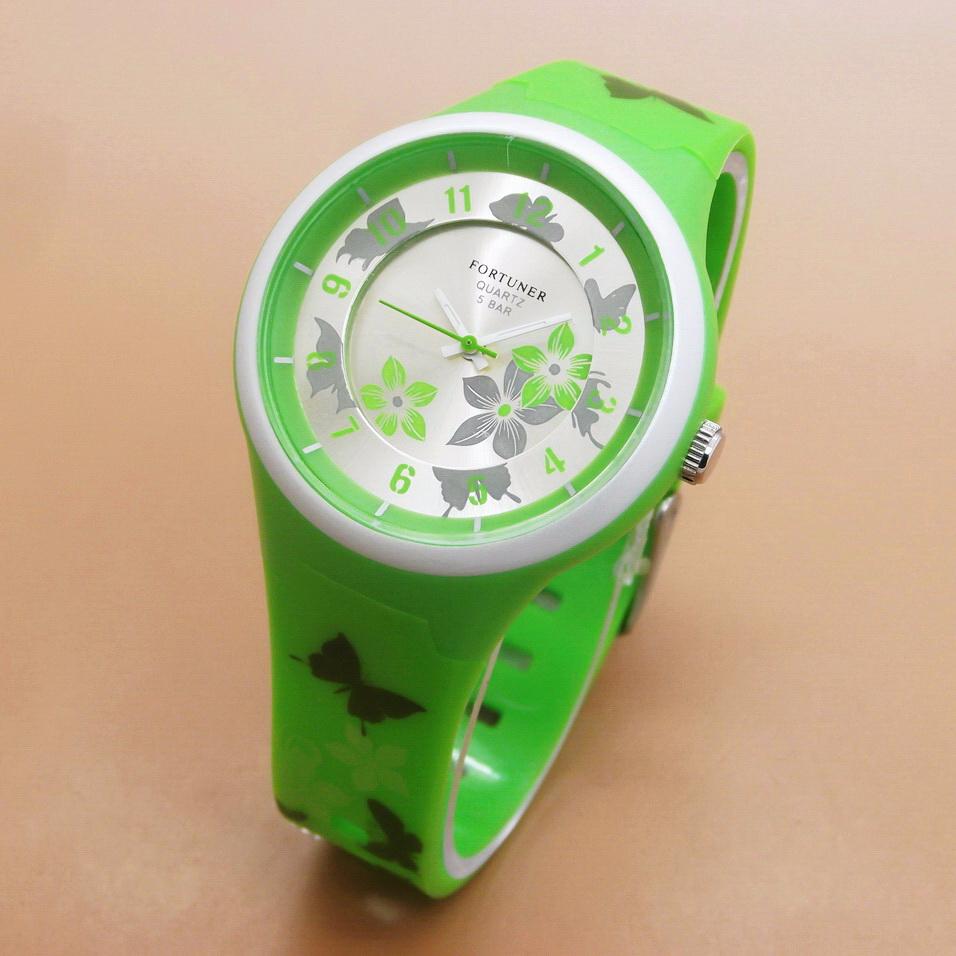Jam Tangan Wanita / Cewek Fortuner FR400 Original Rubber Green