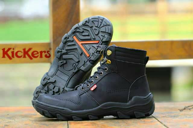 sepatu boot kickers xion plus safety black