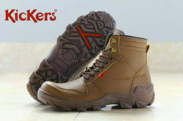 sepatu boot kickers xion plus safety brown