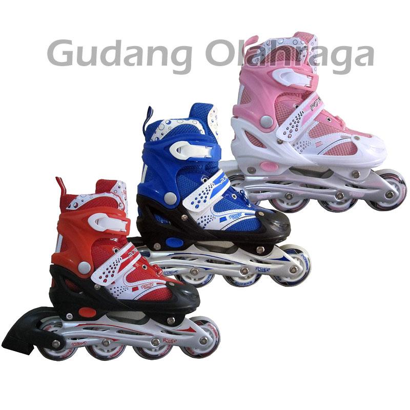 Jual Sepatu Roda Inline Skate Power Superb Red  58c38c08ae
