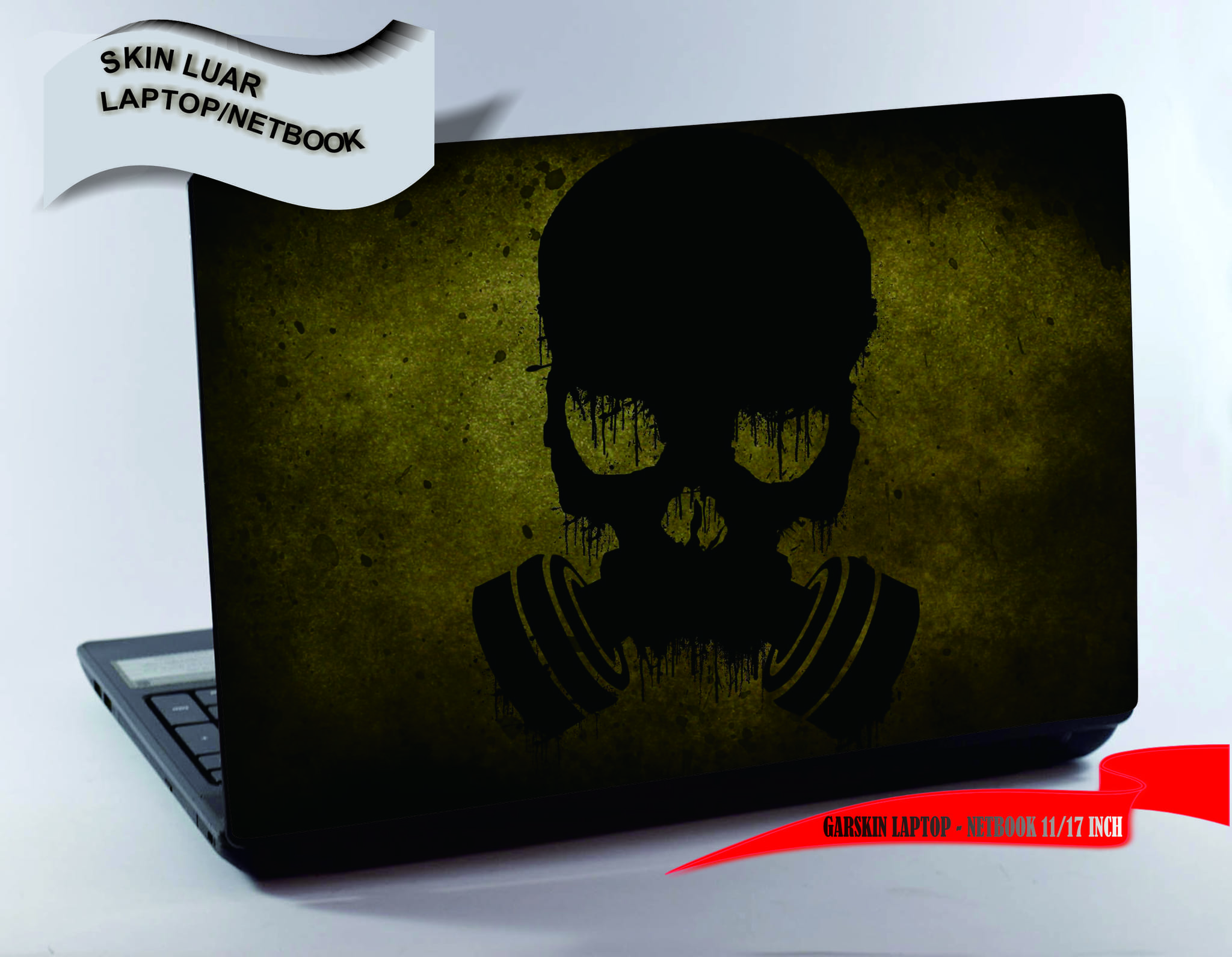 Garskin luar Laptop/Netbook - Black Mask