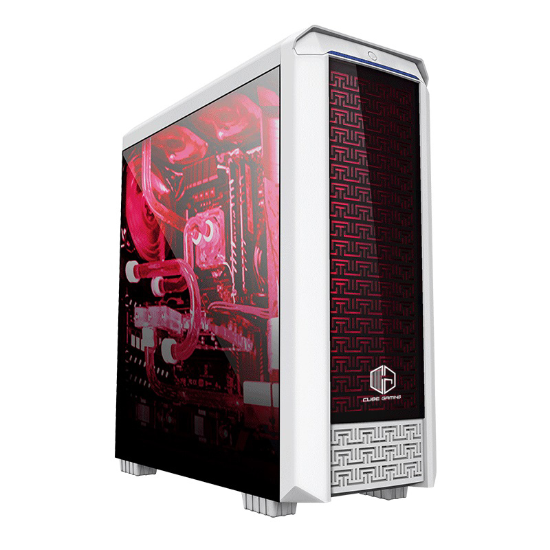 cube gaming fioran full acrylic window rgb list bar 1x12cm led fan