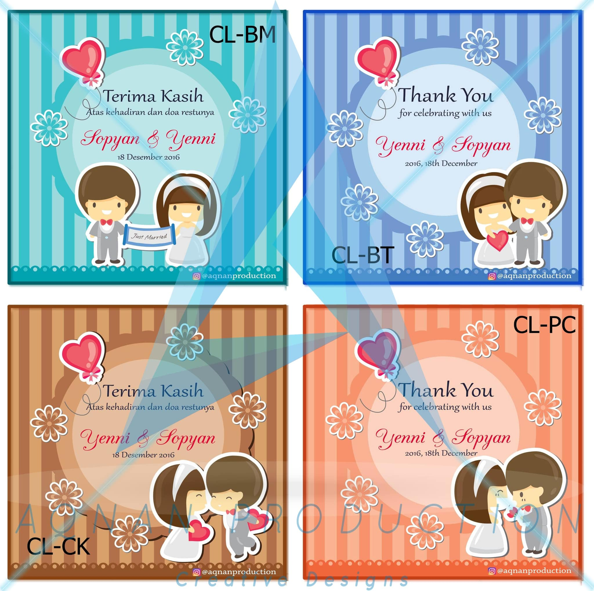 Jual Kartu Ucapan Terima Kasih Souvenir Pernikahan Wedding Thanks Kupon 18 Card A Double S House Tokopedia