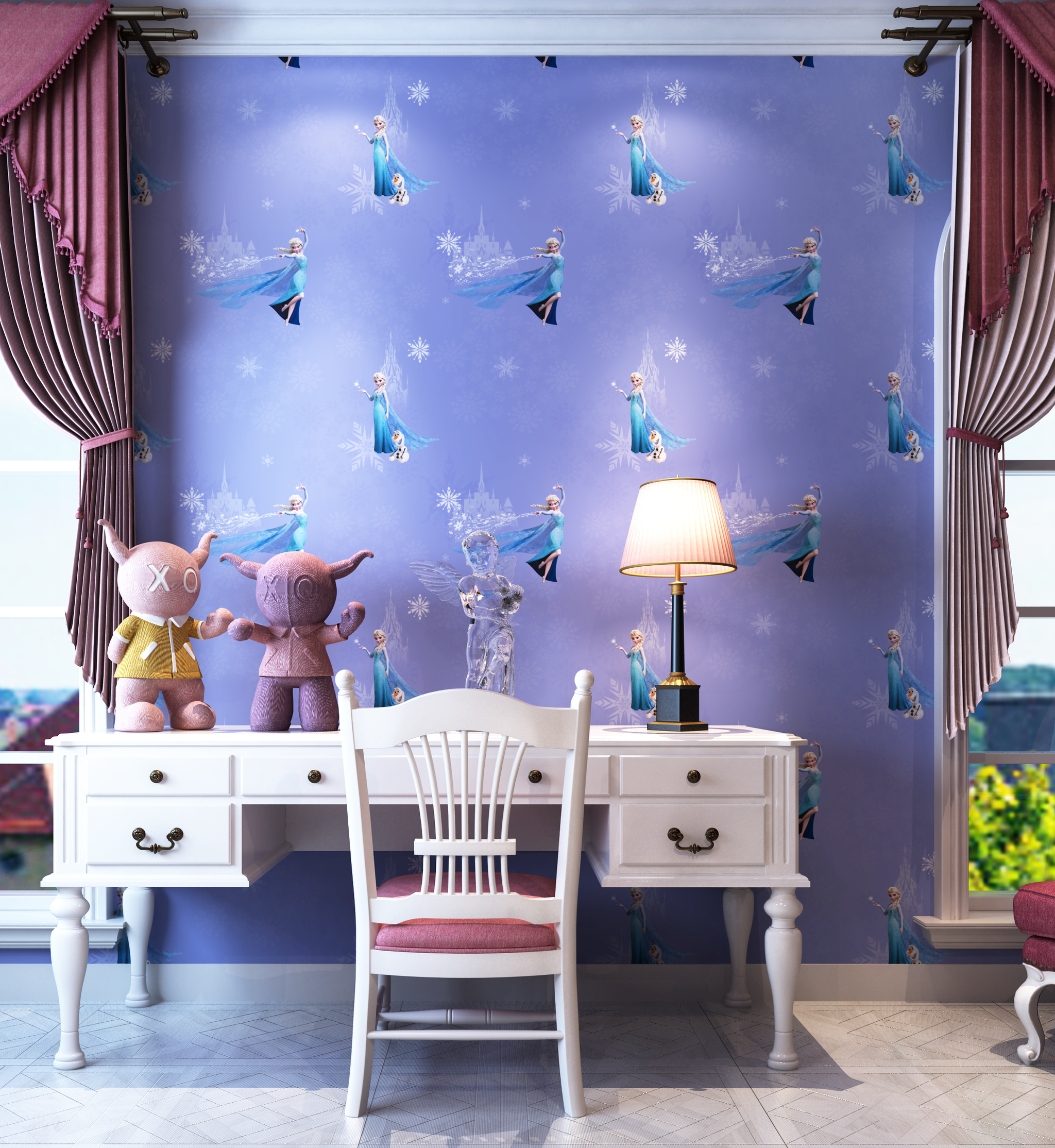 Jual Wallpaper Dinding Frozen Mulia Interior Tokopedia