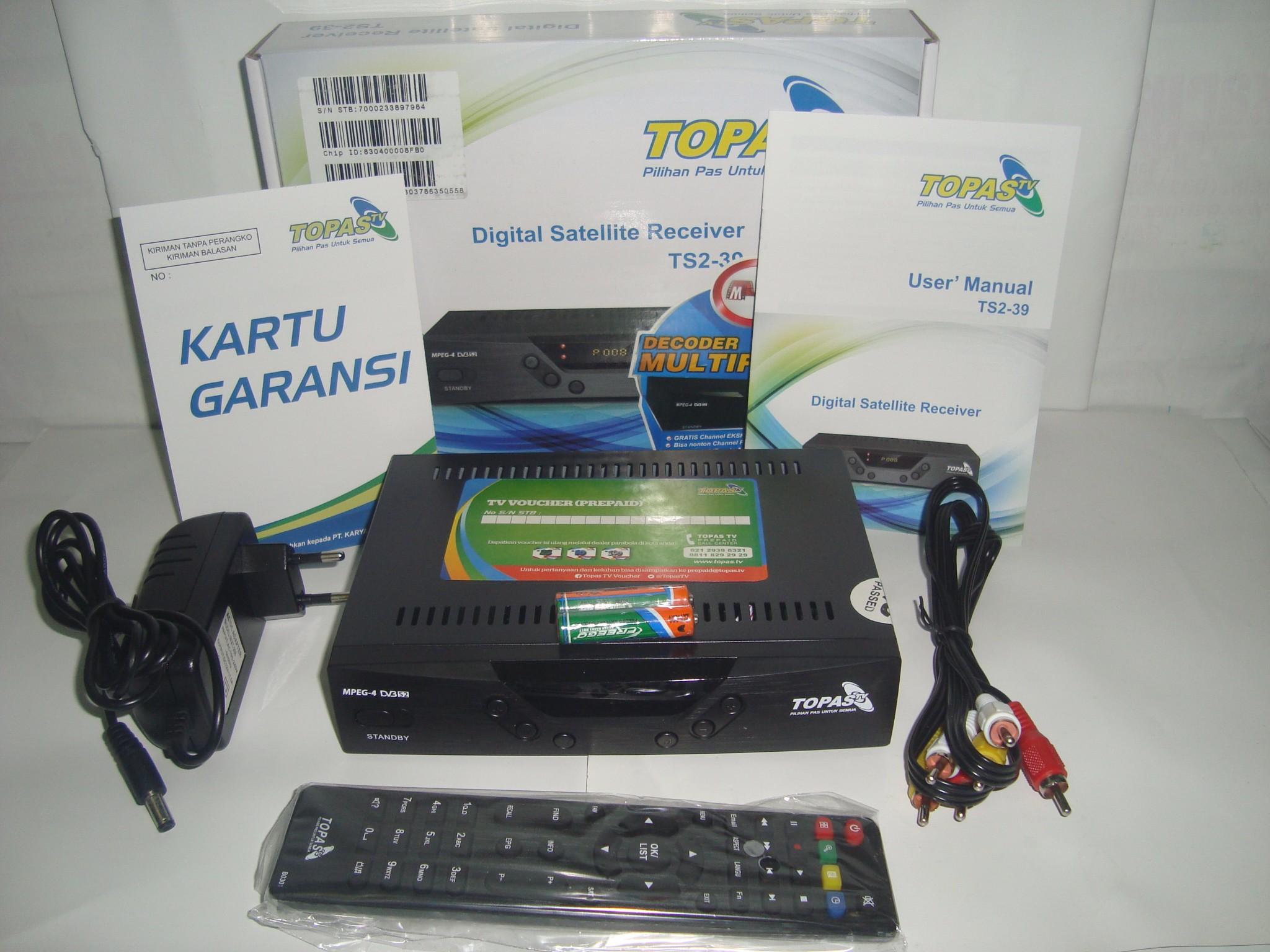 Jual Receiver Parabola Topas Tv Free All Channel Premium Selama 2 Voucher Topastv Paket Basic 1 Tahun Ht Elektro Store Tokopedia