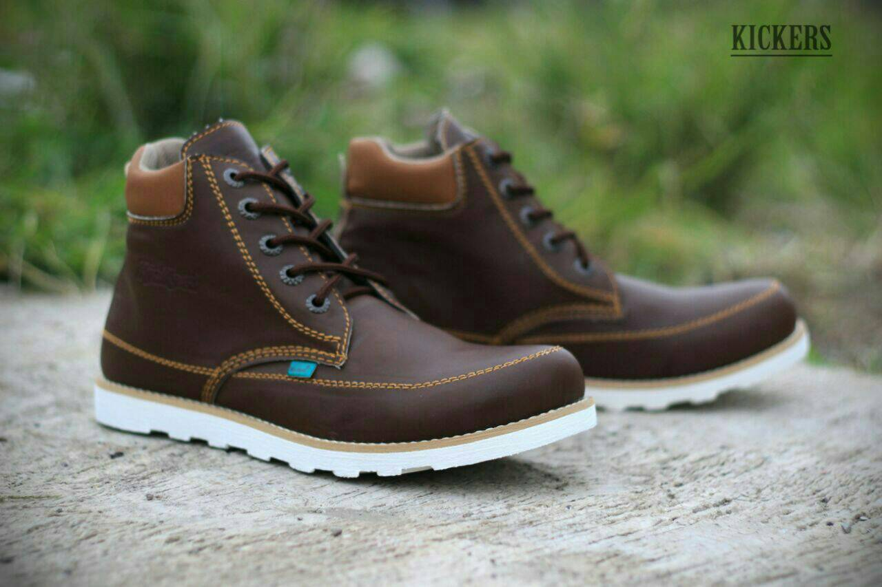 sepatu boot kickers seller brown