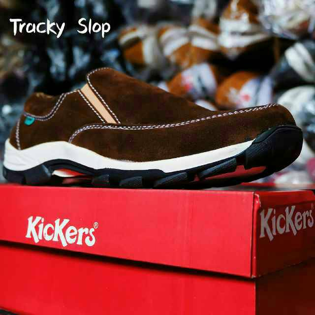 kickers tracky slop sol tpr tracking brown